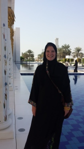 The only time we are asked to wear abayas is when entering their holy places, the mosques. Here, we were visiting the Zayed Grand Mosque in Abu Dhabi.