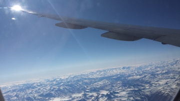 Flying in to Santiago