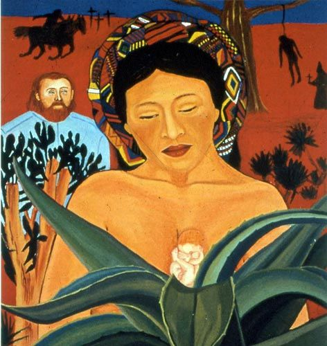 1991 painting by Santa Barraza